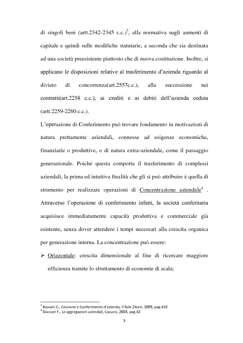 Anteprima della tesi: Il Conferimento d'azienda nella prassi contabile nazionale ed internazionale: il caso Meridiana-Eurofly, Pagina 8