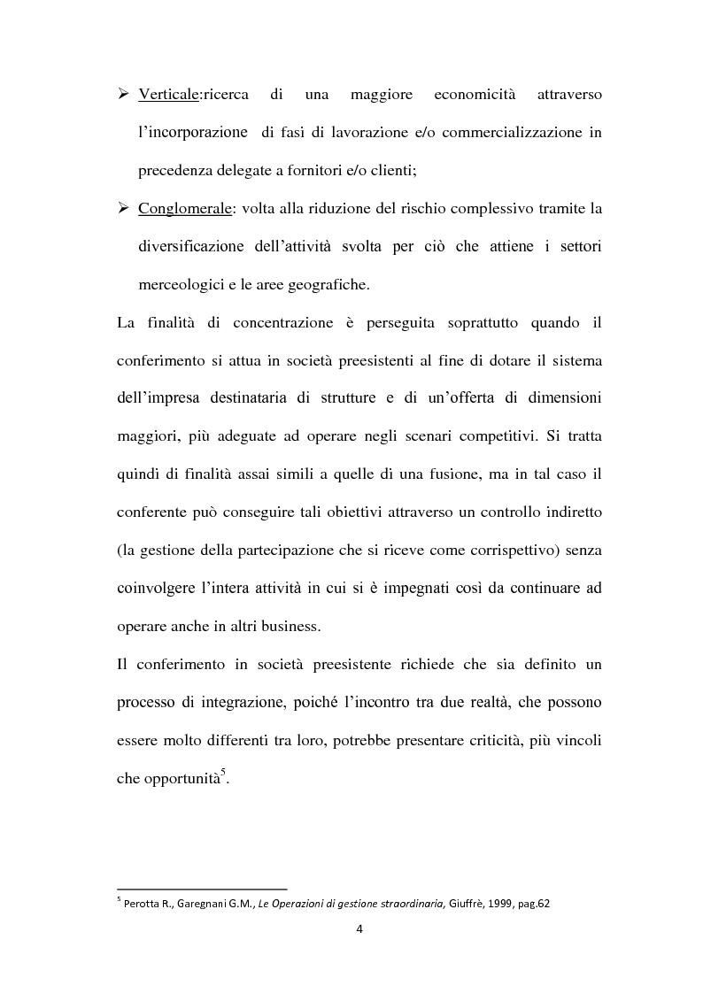 Anteprima della tesi: Il Conferimento d'azienda nella prassi contabile nazionale ed internazionale: il caso Meridiana-Eurofly, Pagina 9