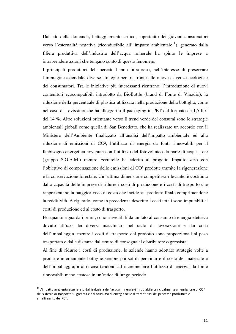 Anteprima della tesi: Analisi Economico-Finanziaria sul settore delle acque minerali, Pagina 10