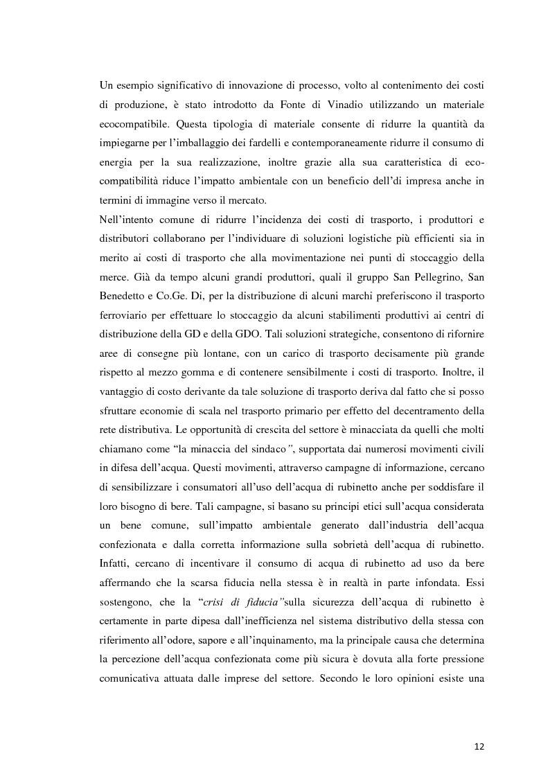 Anteprima della tesi: Analisi Economico-Finanziaria sul settore delle acque minerali, Pagina 11