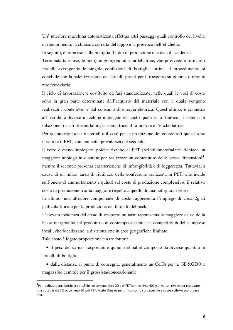Anteprima della tesi: Analisi Economico-Finanziaria sul settore delle acque minerali, Pagina 5