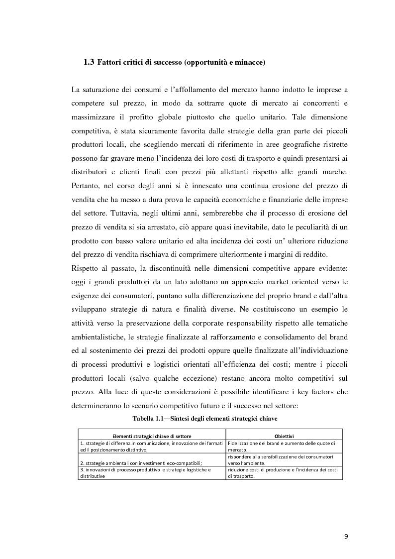Anteprima della tesi: Analisi Economico-Finanziaria sul settore delle acque minerali, Pagina 8