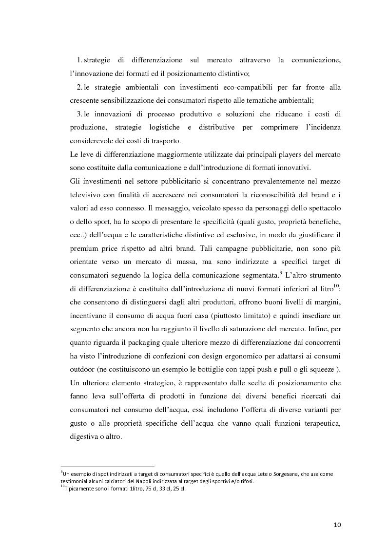 Anteprima della tesi: Analisi Economico-Finanziaria sul settore delle acque minerali, Pagina 9
