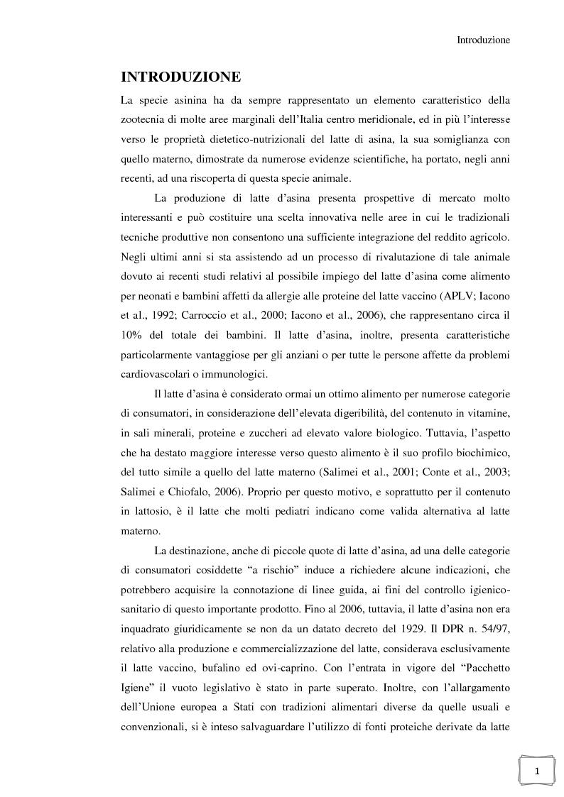 Anteprima della tesi: Influenza della temperatura di essiccazione sulla qualità delle polveri nell'essiccamento spray di latte d'asina, Pagina 2