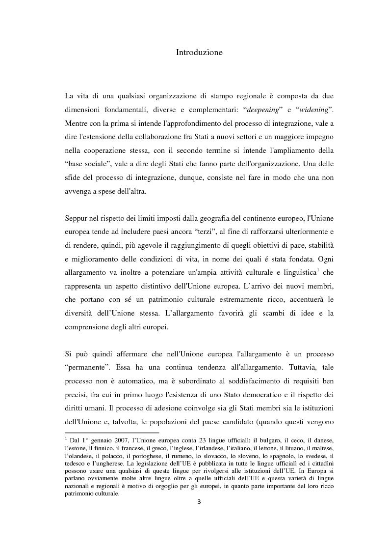 Anteprima della tesi: L'Allargamento dell'Unione europea: il caso della Macedonia, Pagina 2