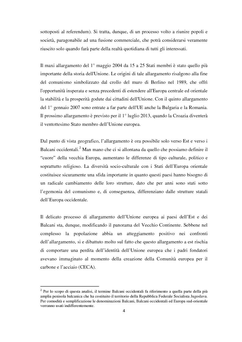 Anteprima della tesi: L'Allargamento dell'Unione europea: il caso della Macedonia, Pagina 3