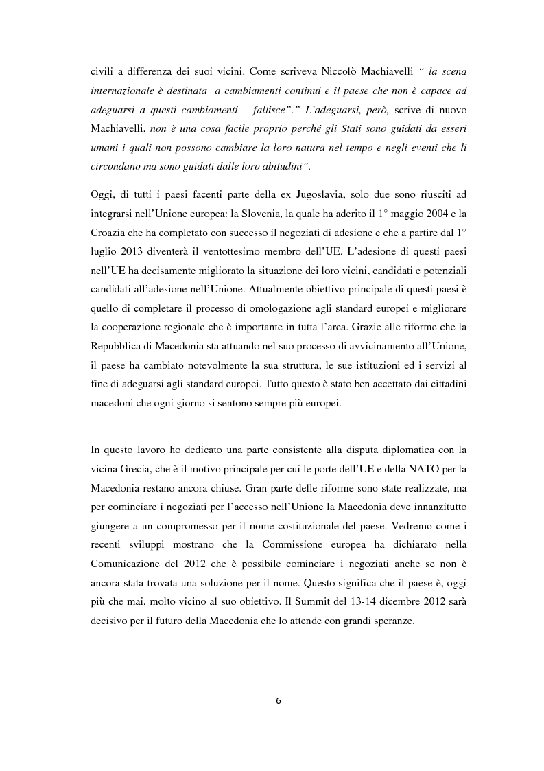 Anteprima della tesi: L'Allargamento dell'Unione europea: il caso della Macedonia, Pagina 5