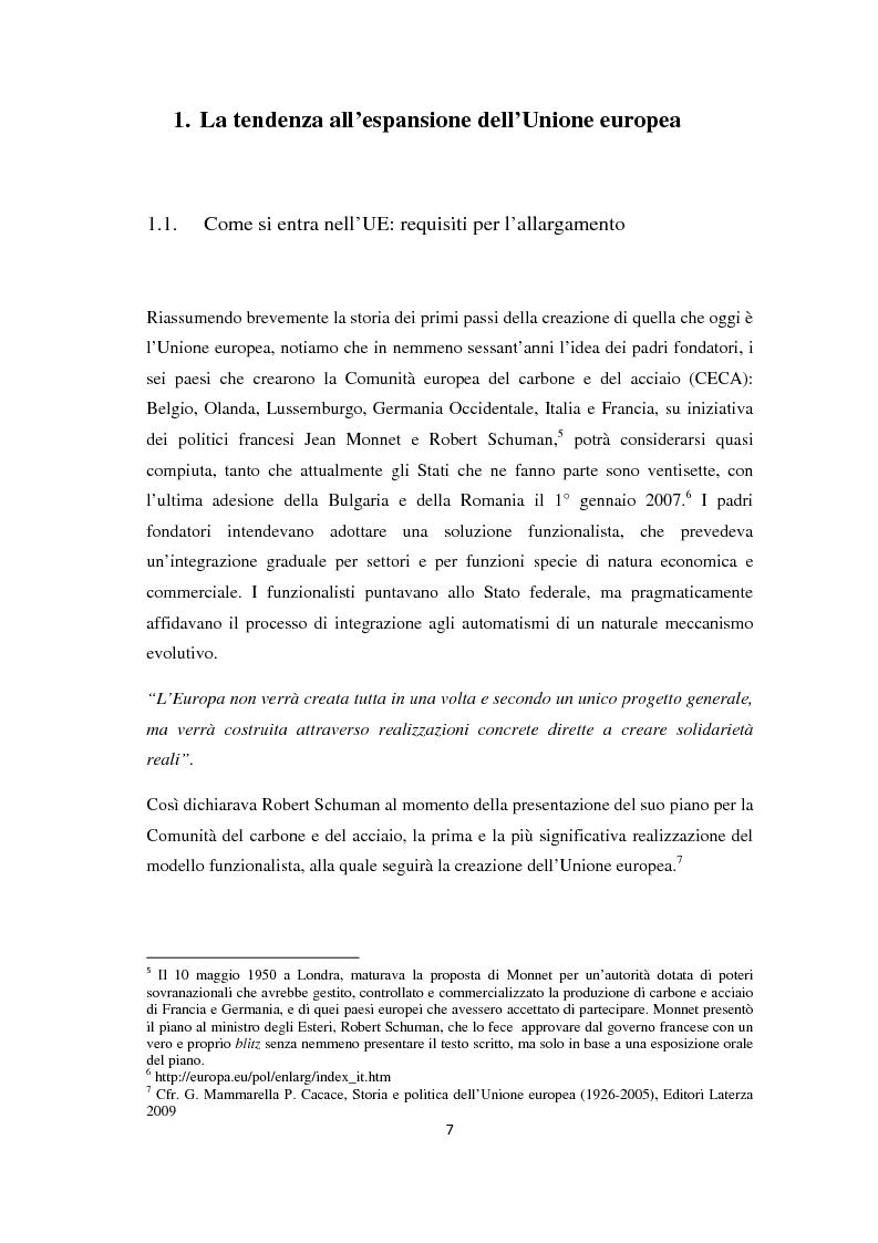 Anteprima della tesi: L'Allargamento dell'Unione europea: il caso della Macedonia, Pagina 6