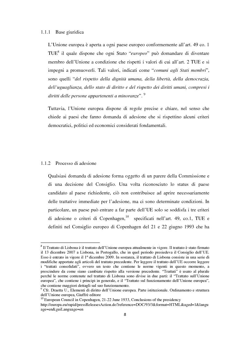 Anteprima della tesi: L'Allargamento dell'Unione europea: il caso della Macedonia, Pagina 7