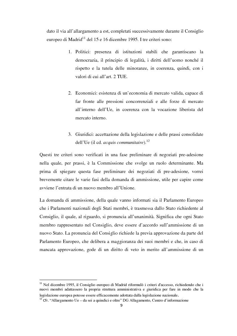 Anteprima della tesi: L'Allargamento dell'Unione europea: il caso della Macedonia, Pagina 8