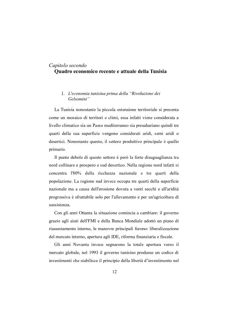 Anteprima della tesi: Internazionalizzazione e cooperazione economica. I rapporti tra Italia e Tunisia , Pagina 2