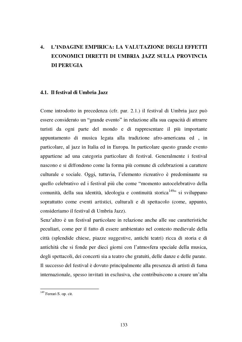 Anteprima della tesi: Eventi culturali e marketing territoriale: l'indagine empirica sul festival musicale di Umbria Jazz, Pagina 2