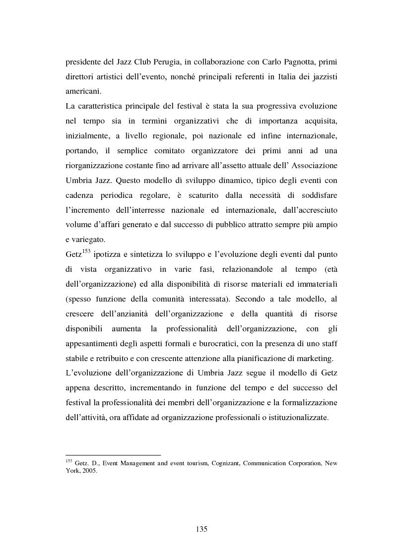 Anteprima della tesi: Eventi culturali e marketing territoriale: l'indagine empirica sul festival musicale di Umbria Jazz, Pagina 4