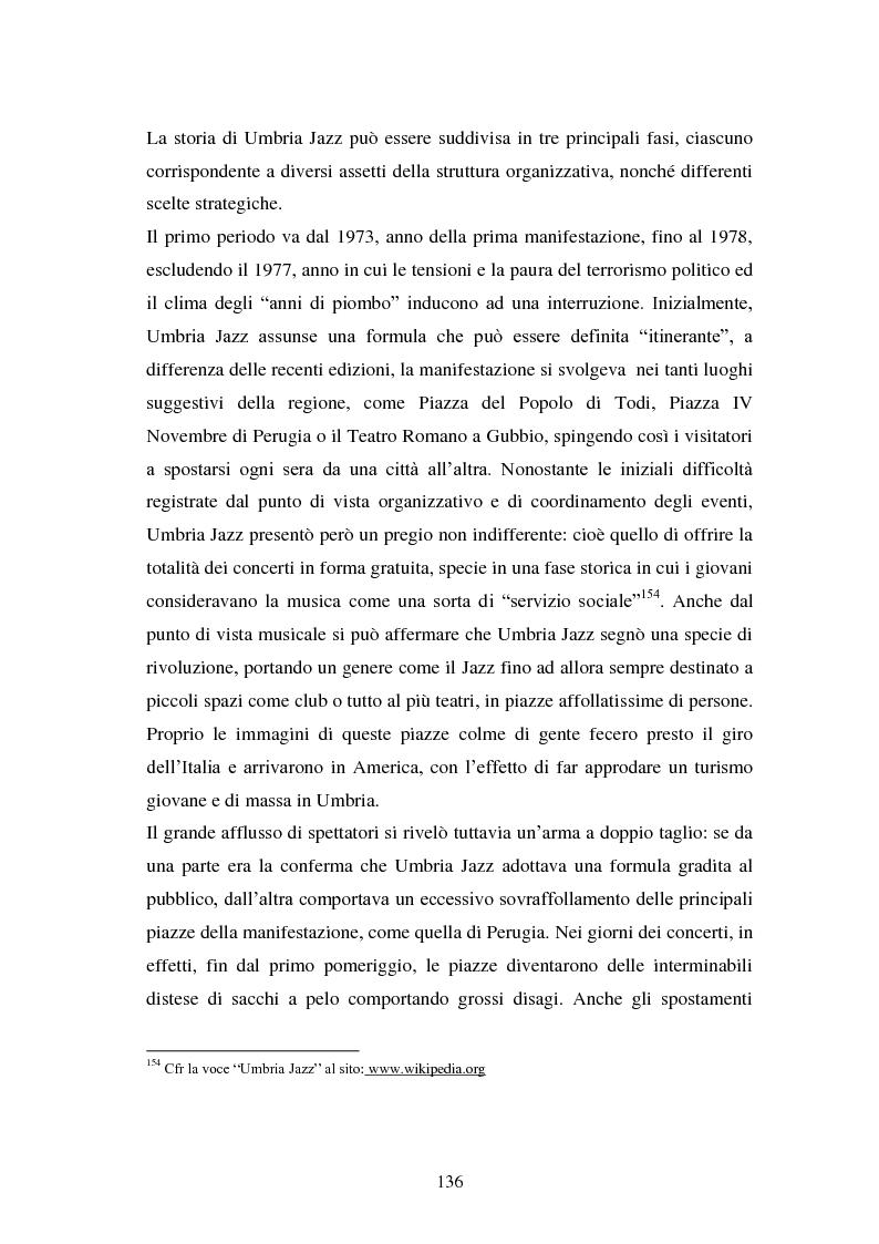 Anteprima della tesi: Eventi culturali e marketing territoriale: l'indagine empirica sul festival musicale di Umbria Jazz, Pagina 5