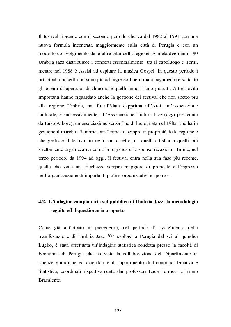 Anteprima della tesi: Eventi culturali e marketing territoriale: l'indagine empirica sul festival musicale di Umbria Jazz, Pagina 7