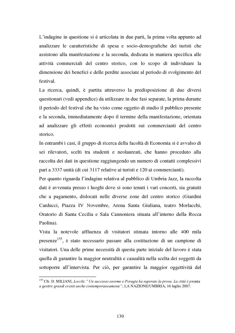 Anteprima della tesi: Eventi culturali e marketing territoriale: l'indagine empirica sul festival musicale di Umbria Jazz, Pagina 8