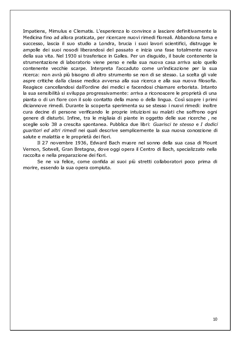 Anteprima della tesi: Floriterapia di Bach Applicata alle 9 Basi dell'enneagramma ed ai difetti di rifrazione visiva, Pagina 4
