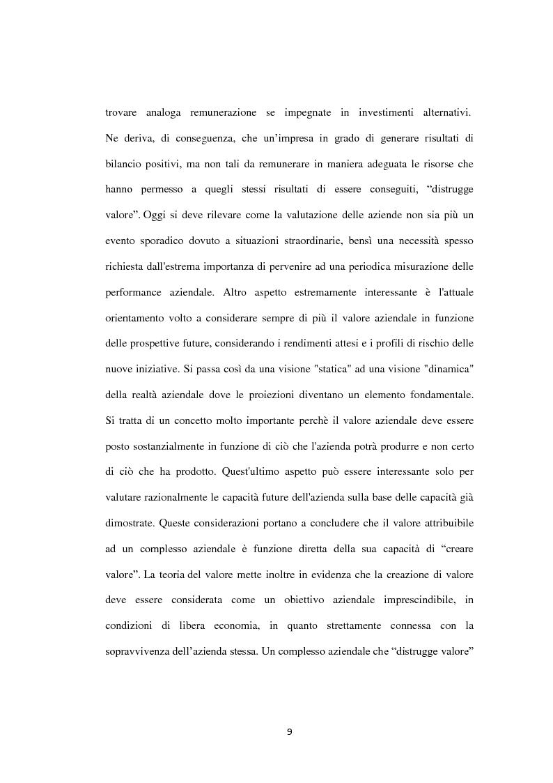 Anteprima della tesi: Il metodo dei multipli nella valutazione delle aziende. Il caso di Banca Carige., Pagina 10