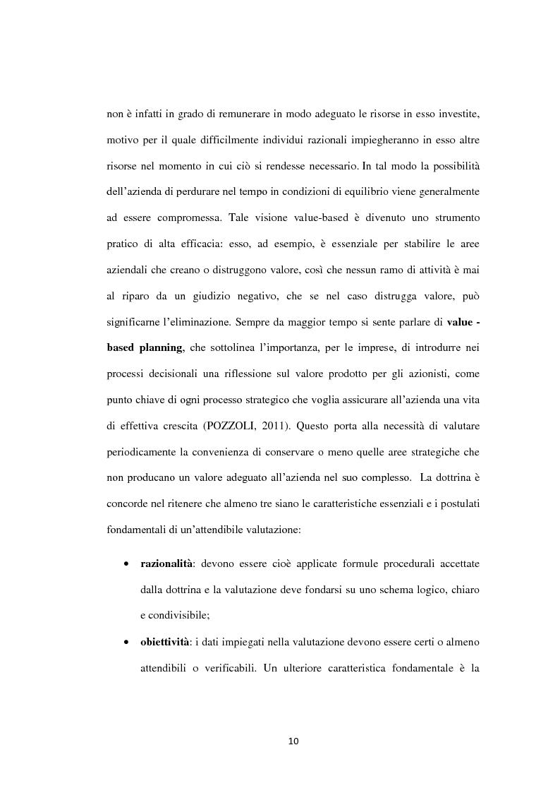 Anteprima della tesi: Il metodo dei multipli nella valutazione delle aziende. Il caso di Banca Carige., Pagina 11