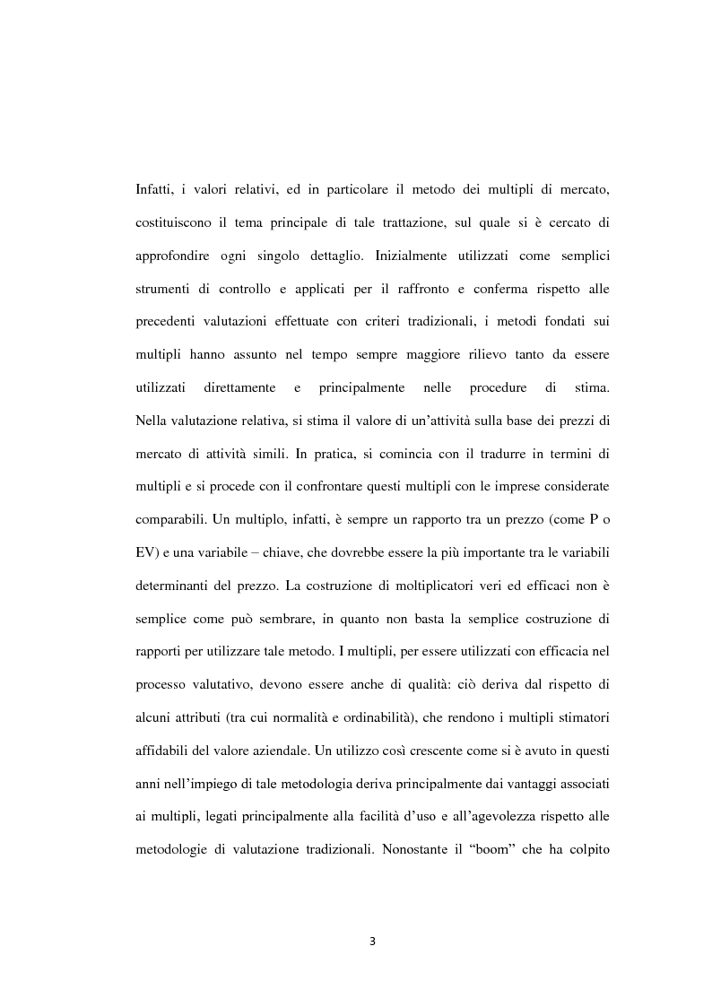 Anteprima della tesi: Il metodo dei multipli nella valutazione delle aziende. Il caso di Banca Carige., Pagina 4