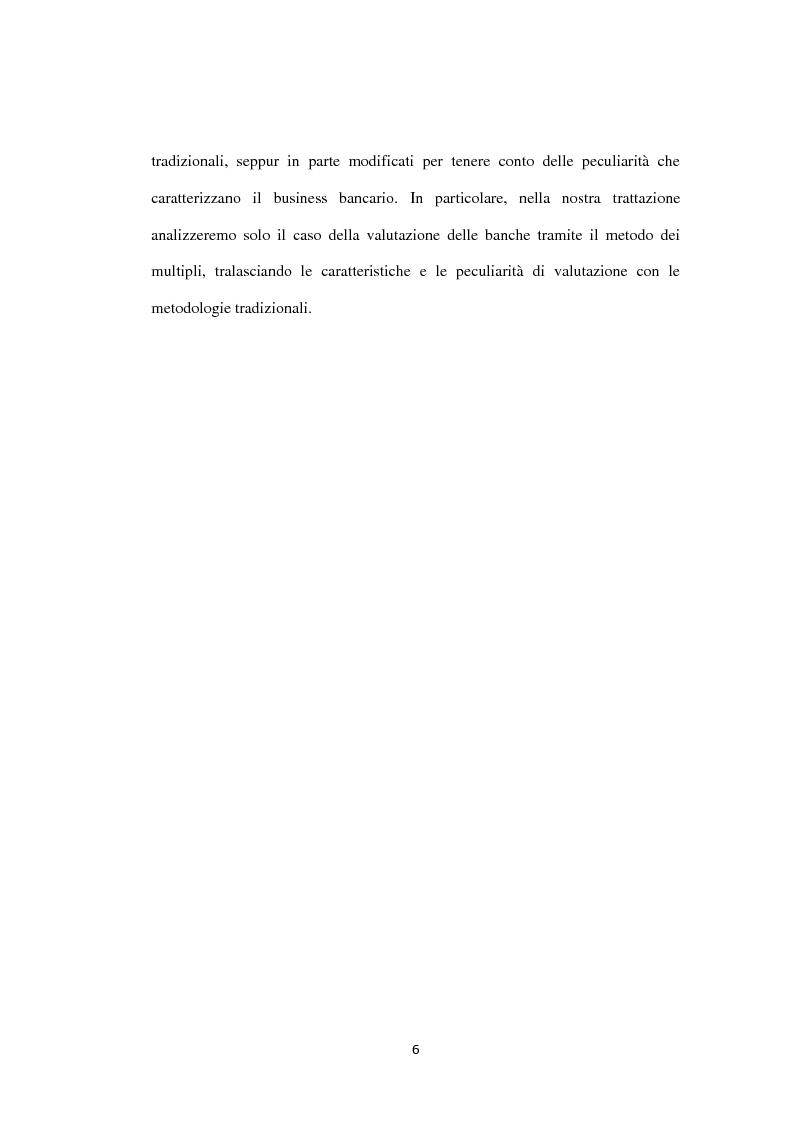 Anteprima della tesi: Il metodo dei multipli nella valutazione delle aziende. Il caso di Banca Carige., Pagina 7
