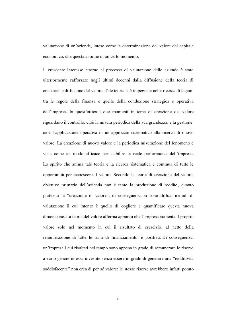 Anteprima della tesi: Il metodo dei multipli nella valutazione delle aziende. Il caso di Banca Carige., Pagina 9