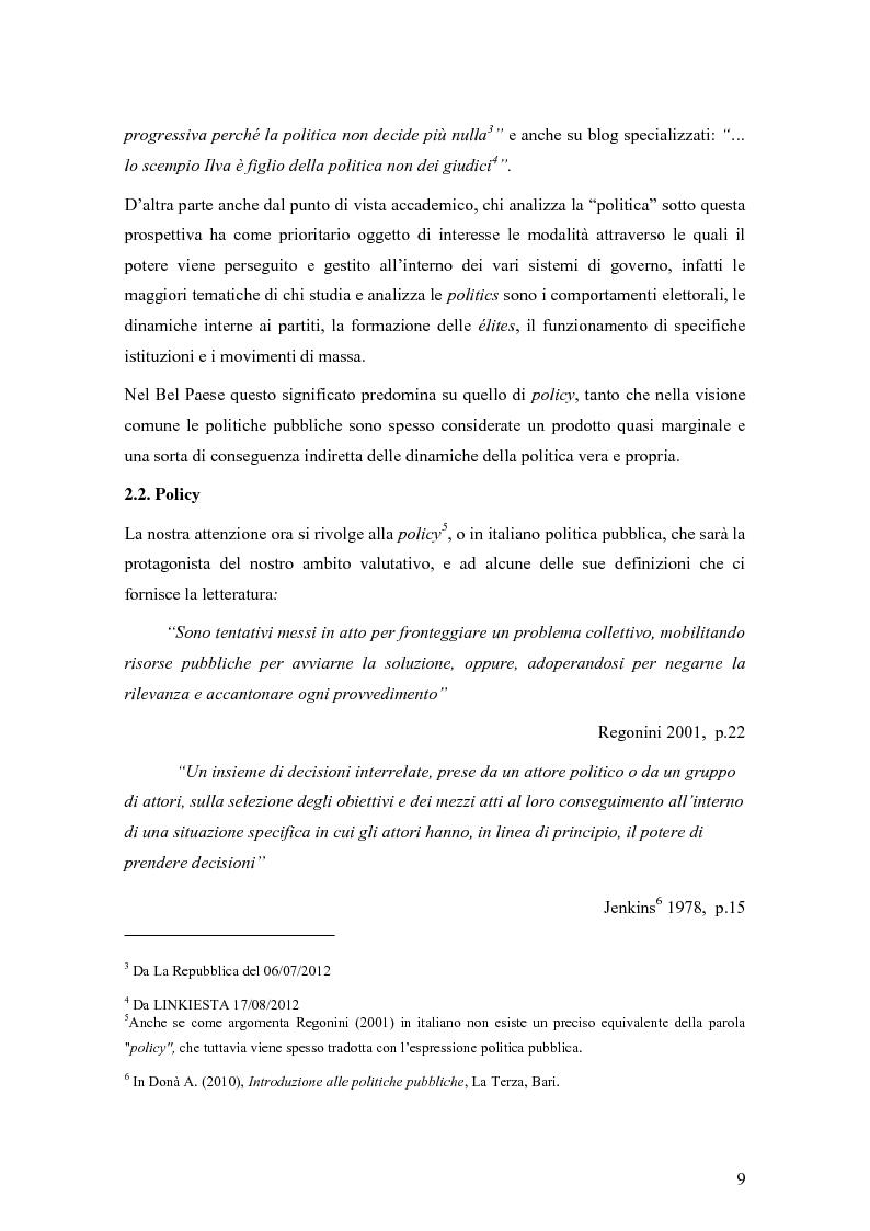 Anteprima della tesi: La valutazione degli effetti delle politiche pubbliche: aspetti teorico metodologici e applicazione al POR FESR 2007-2013 in Lombardia, Pagina 10