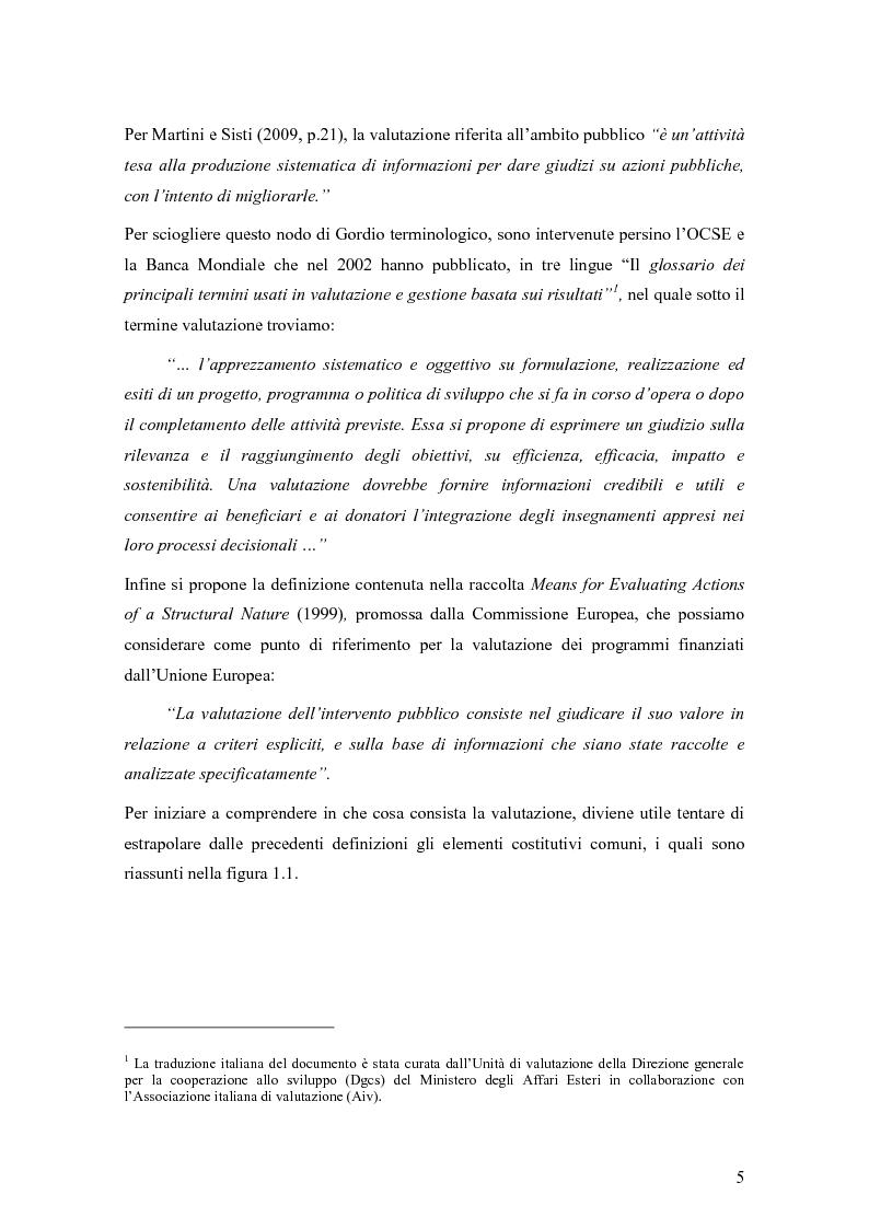 Anteprima della tesi: La valutazione degli effetti delle politiche pubbliche: aspetti teorico metodologici e applicazione al POR FESR 2007-2013 in Lombardia, Pagina 6