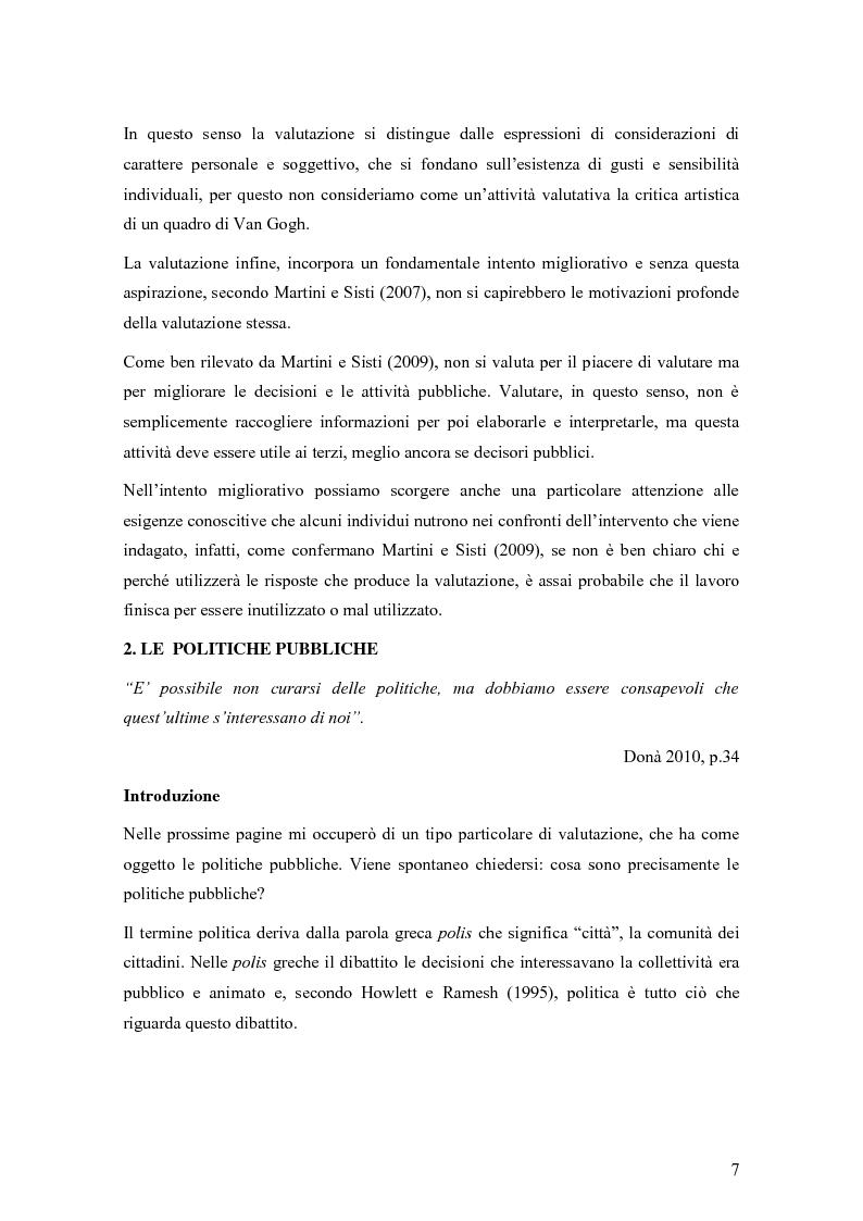 Anteprima della tesi: La valutazione degli effetti delle politiche pubbliche: aspetti teorico metodologici e applicazione al POR FESR 2007-2013 in Lombardia, Pagina 8