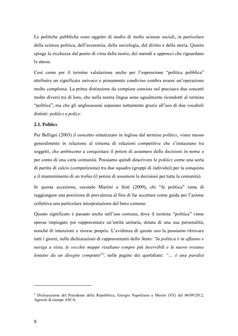 Anteprima della tesi: La valutazione degli effetti delle politiche pubbliche: aspetti teorico metodologici e applicazione al POR FESR 2007-2013 in Lombardia, Pagina 9