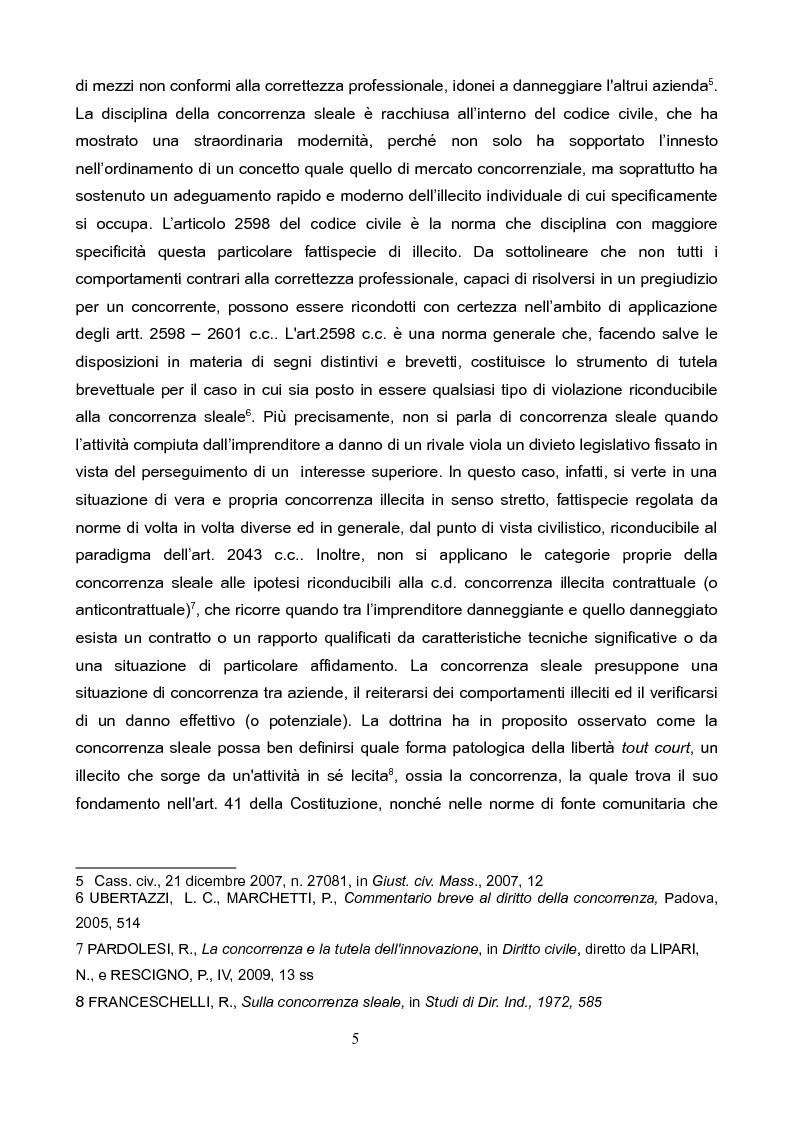 Anteprima della tesi: La concorrenza sleale per interposta persona, Pagina 4