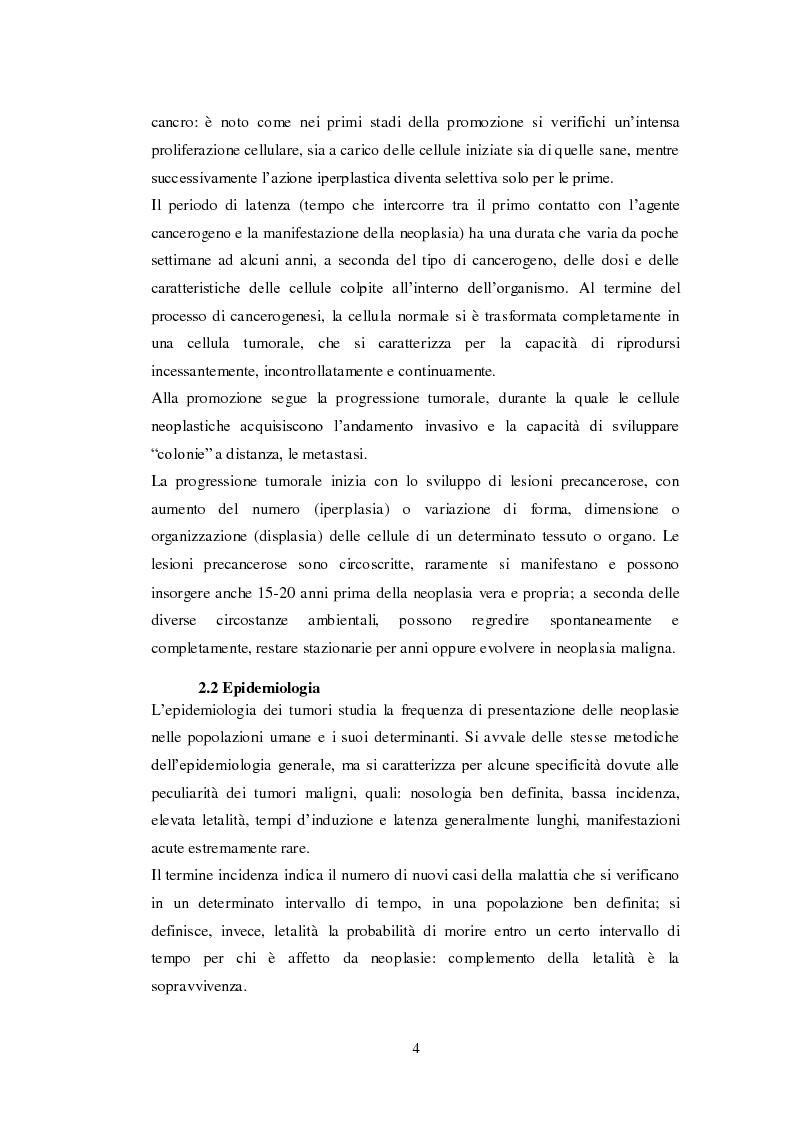 Anteprima della tesi: Ruolo della nutrizione nel trattamento del paziente neoplastico, Pagina 6