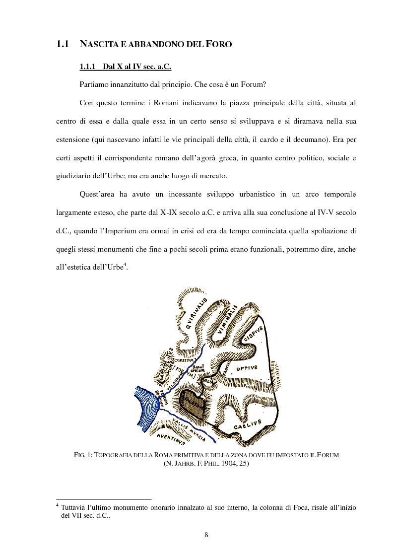 Anteprima della tesi: La Realtà Virtuale come nuova metodologia dei dati storico-archeologici. Il caso-studio del Foro romano, Pagina 6
