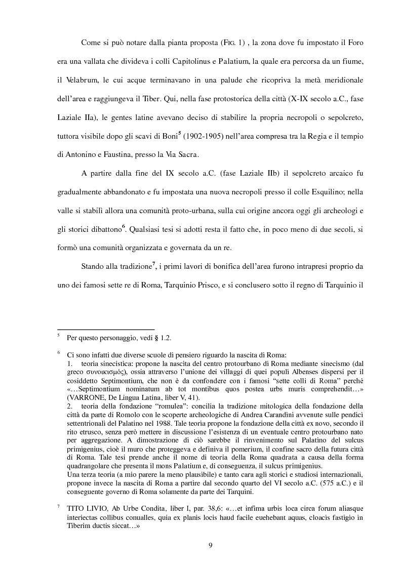 Anteprima della tesi: La Realtà Virtuale come nuova metodologia dei dati storico-archeologici. Il caso-studio del Foro romano, Pagina 7