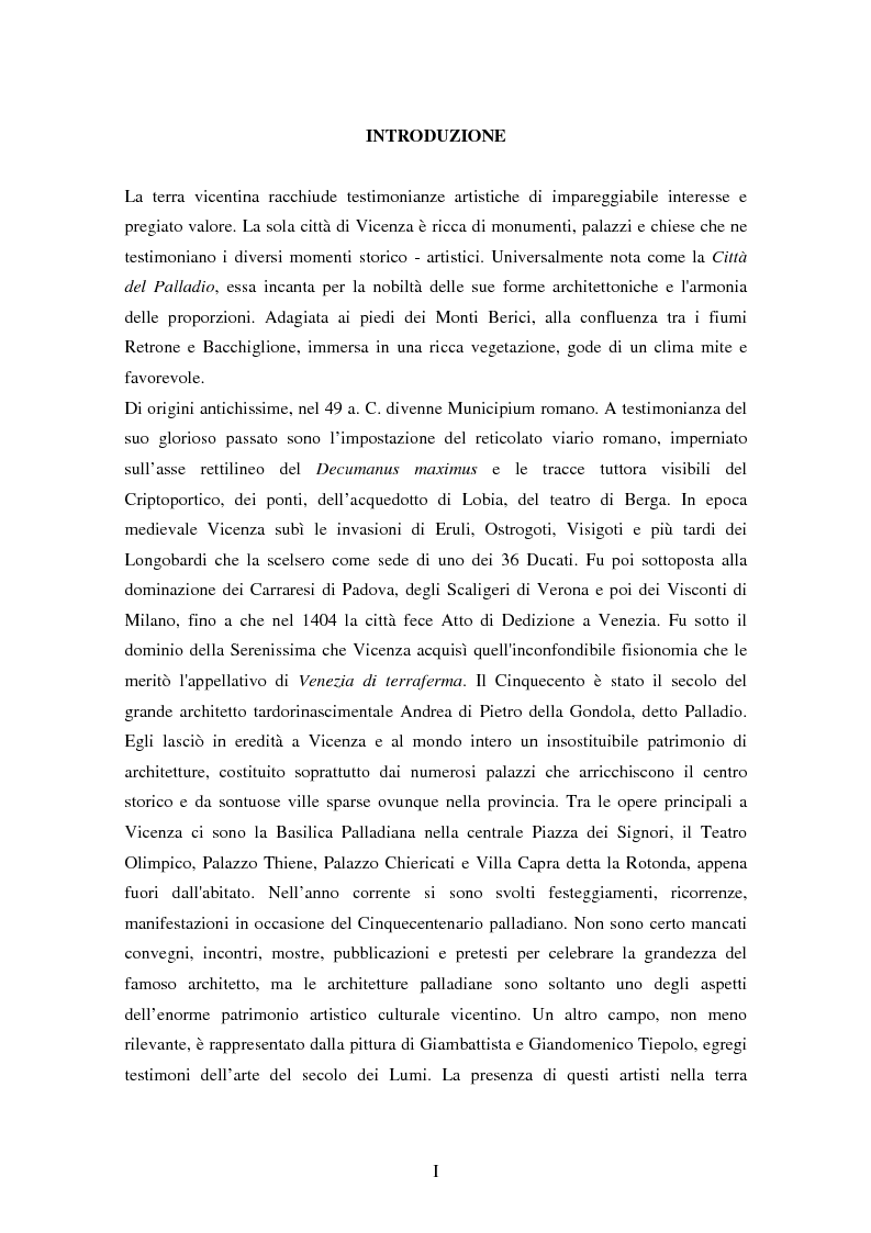 Anteprima della tesi: Opere dei Tiepolo nel vicentino: itinerario guidato, Pagina 2