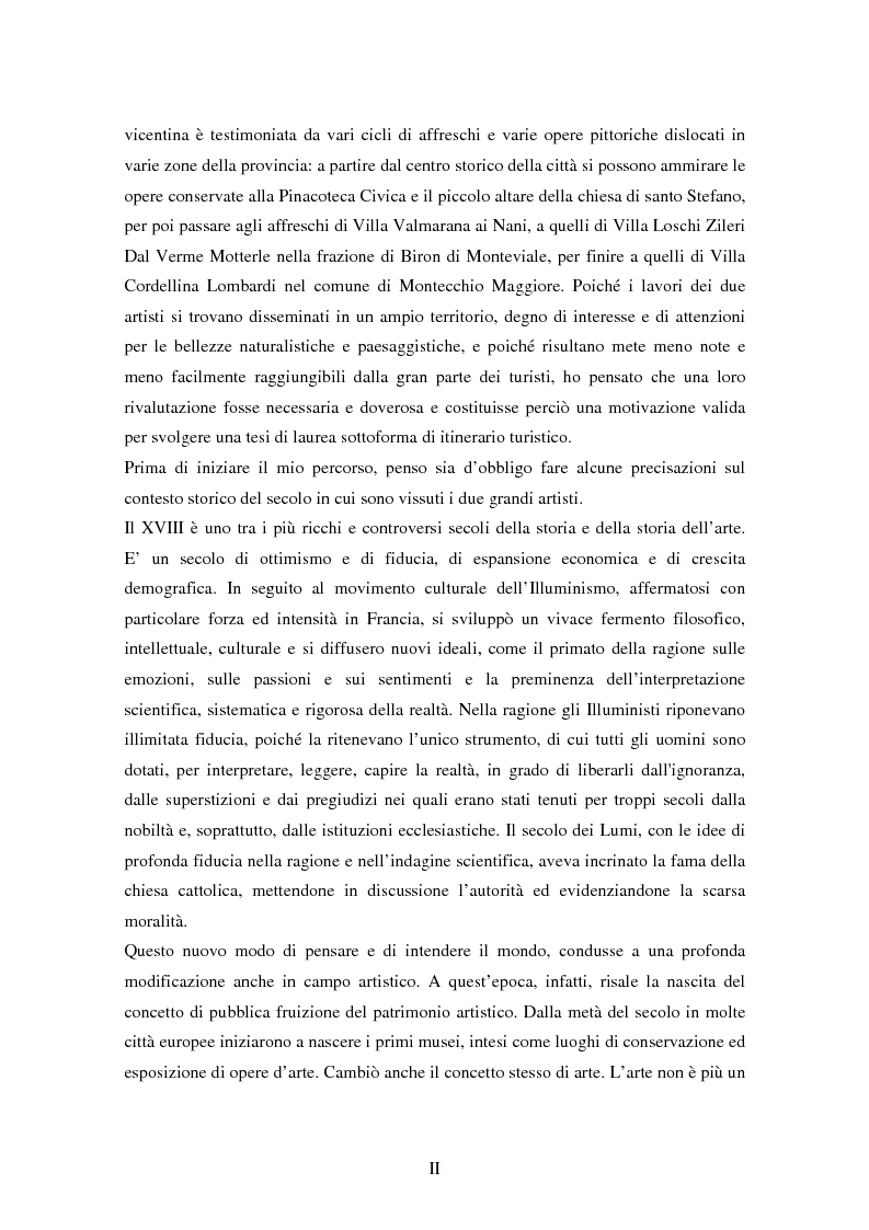 Anteprima della tesi: Opere dei Tiepolo nel vicentino: itinerario guidato, Pagina 3