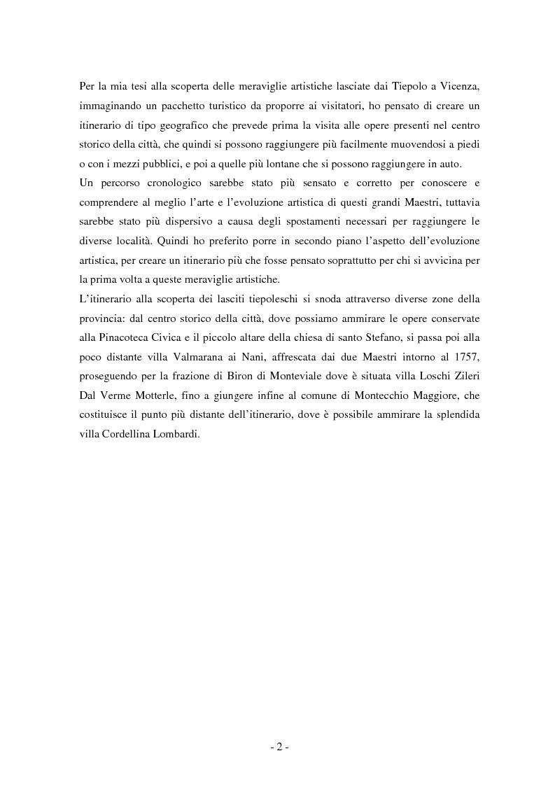 Anteprima della tesi: Opere dei Tiepolo nel vicentino: itinerario guidato, Pagina 6