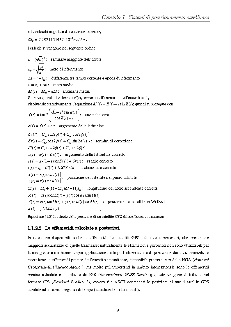 Anteprima della tesi: Analisi delle prestazioni di integrità e accuratezza di sistemi di localizzazione satellitare per il controllo della marcia dei treni, Pagina 11