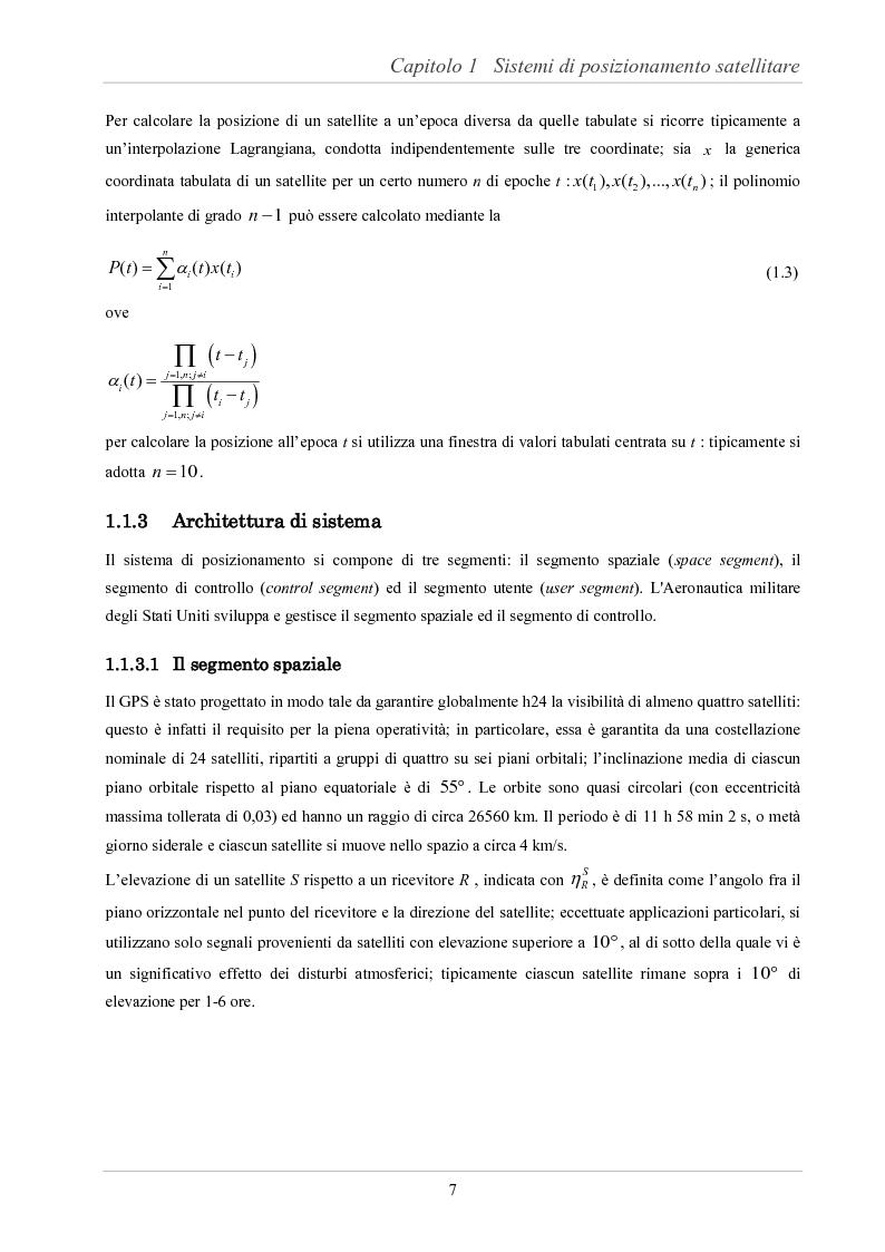 Anteprima della tesi: Analisi delle prestazioni di integrità e accuratezza di sistemi di localizzazione satellitare per il controllo della marcia dei treni, Pagina 12