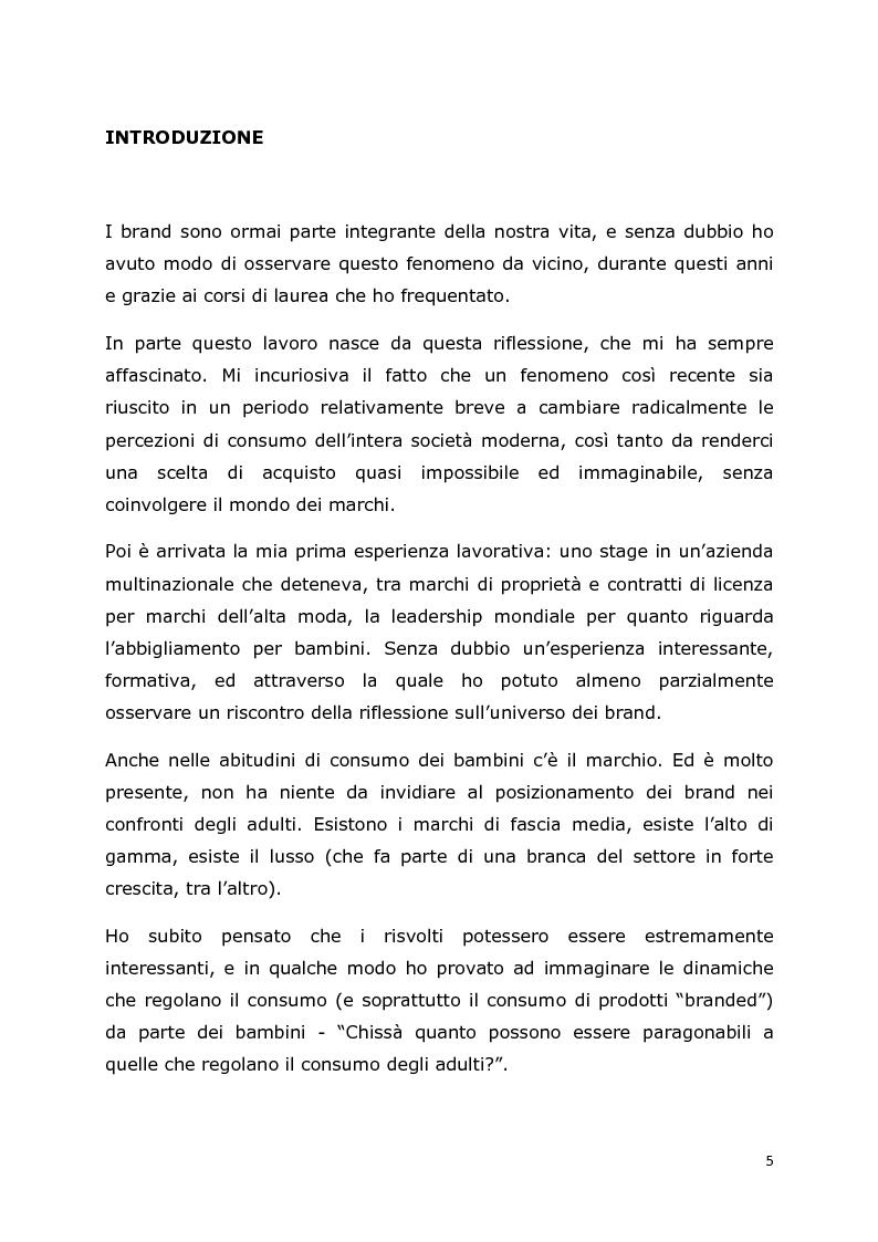 Anteprima della tesi: Comunicazione e trend delle imprese di abbigliamento di lusso: il caso del settore bambino, Pagina 2