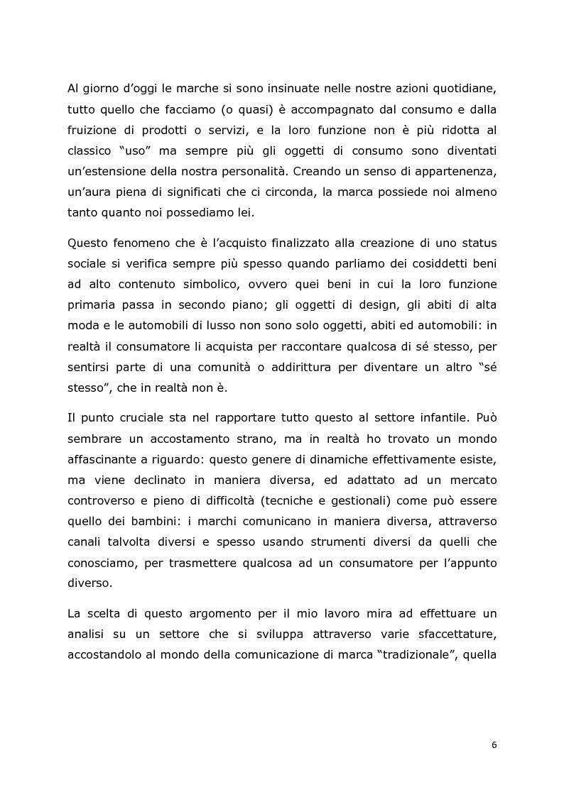 Anteprima della tesi: Comunicazione e trend delle imprese di abbigliamento di lusso: il caso del settore bambino, Pagina 3