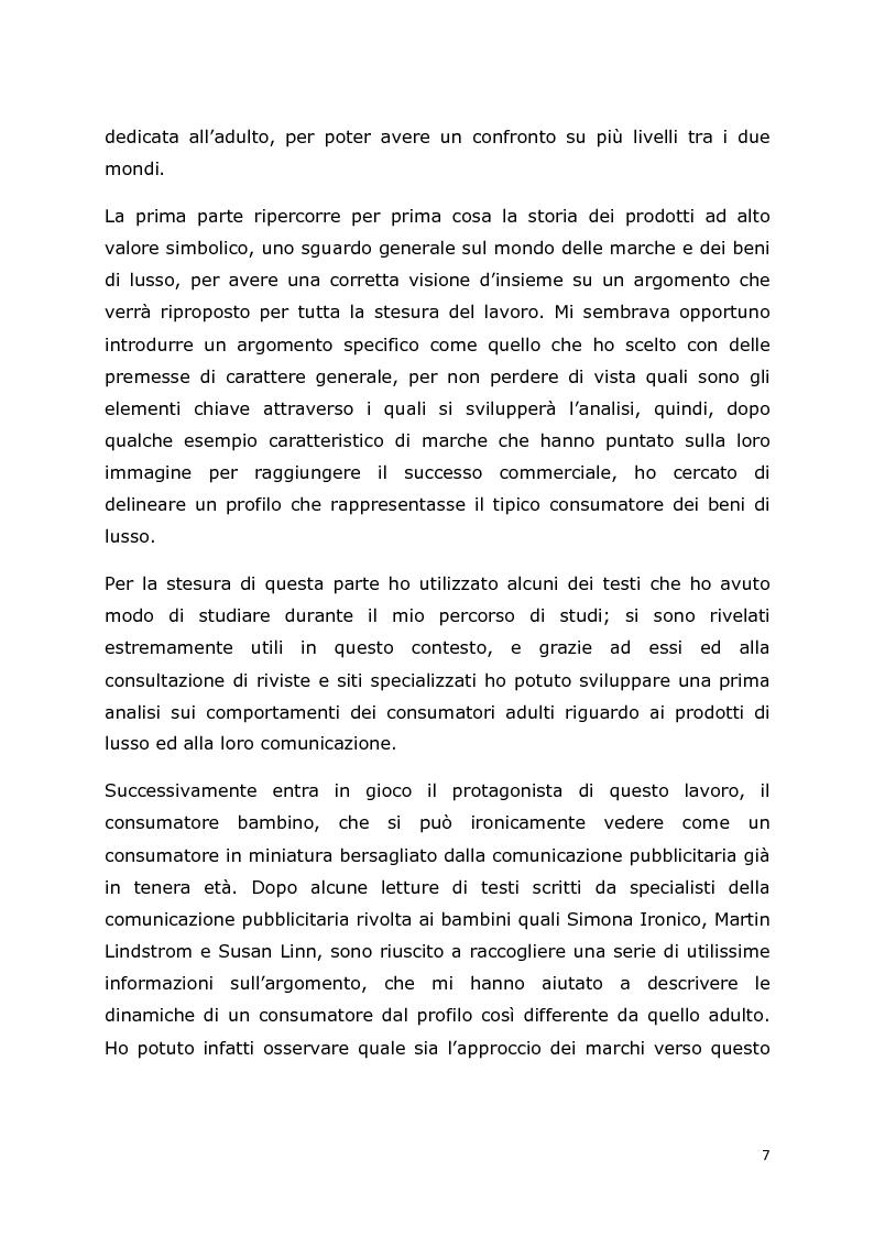 Anteprima della tesi: Comunicazione e trend delle imprese di abbigliamento di lusso: il caso del settore bambino, Pagina 4