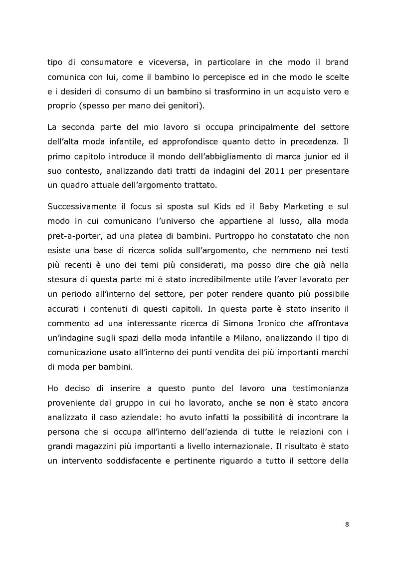 Anteprima della tesi: Comunicazione e trend delle imprese di abbigliamento di lusso: il caso del settore bambino, Pagina 5