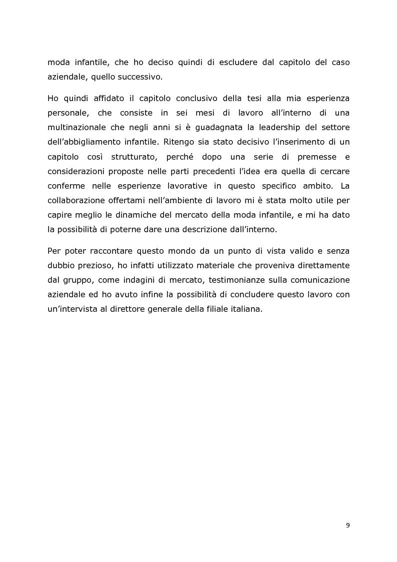Anteprima della tesi: Comunicazione e trend delle imprese di abbigliamento di lusso: il caso del settore bambino, Pagina 6