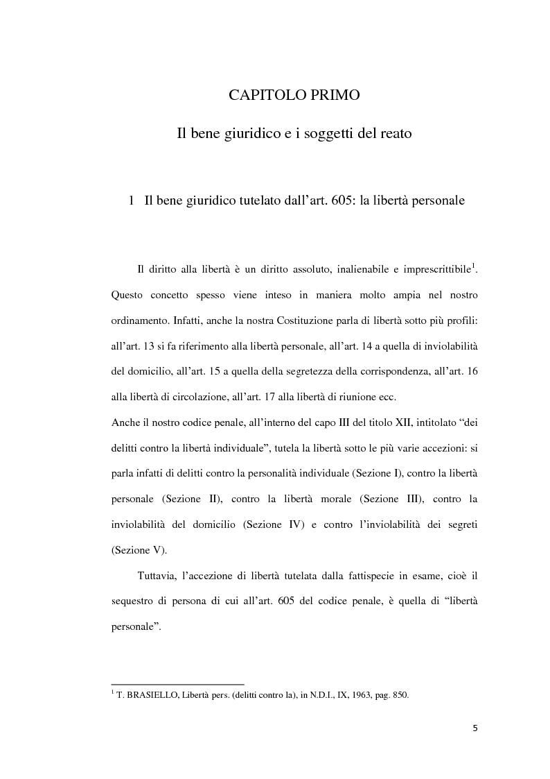 Anteprima della tesi: Il sequestro di persona, Pagina 2