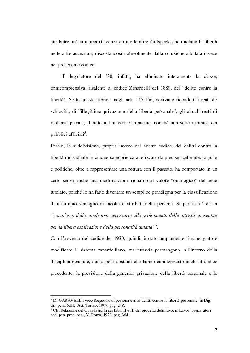 Anteprima della tesi: Il sequestro di persona, Pagina 4