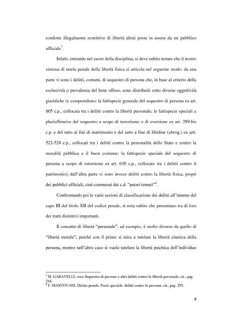Anteprima della tesi: Il sequestro di persona, Pagina 5