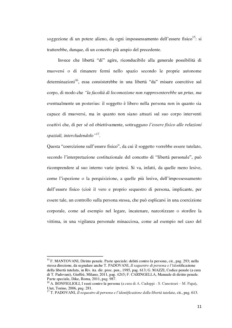 Anteprima della tesi: Il sequestro di persona, Pagina 8