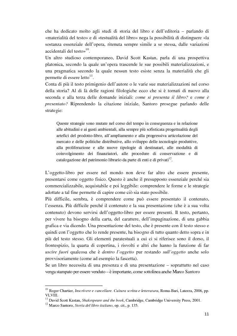 Anteprima della tesi: I libri dietro la quarta. Ruoli e forme della quarta di copertina, Pagina 10