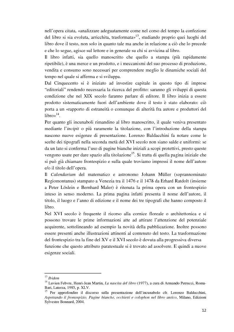 Anteprima della tesi: I libri dietro la quarta. Ruoli e forme della quarta di copertina, Pagina 11